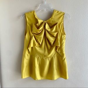 [Marni] Silk Bow Front Yellow Gold Top